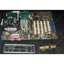 Материнская плата Asus P4PE (FireWire) с процессором Intel Pentium-4 2.4GHz s.478 и памятью 768Mb DDR1 Б/У (Находка)